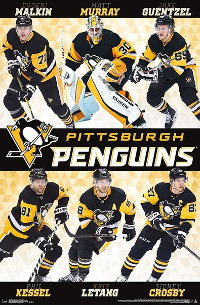 "Pittsburgh Penguins ""Six Stars"" 2018-19 Poster (Crosby, Murray, Kessel, Malkin, Letang, Guentzel)"