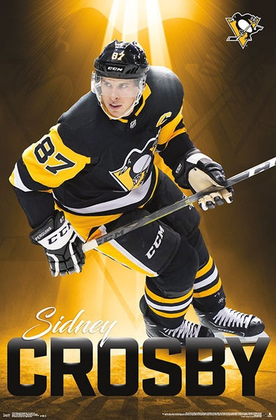 "Sidney Crosby ""Golden Star"" Pittsburgh Penguins Official NHL Hockey Wall POSTER - Trends 2018"