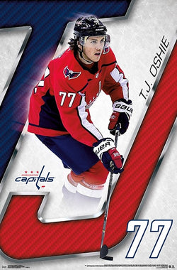 "T.J. Oshie ""Red White and Blue"" Washington Capitals NHL Hockey Wall Poster - Trends 2018"