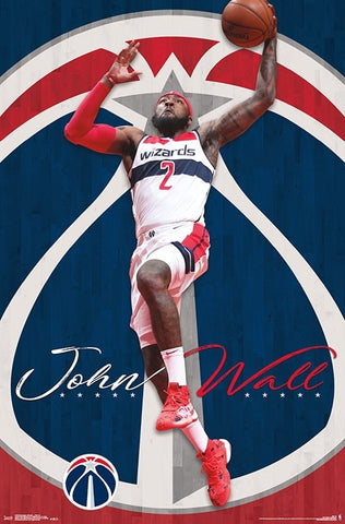 "John Wall ""Soaring"" Washington Wizards NBA Action Wall Poster - Trends International"