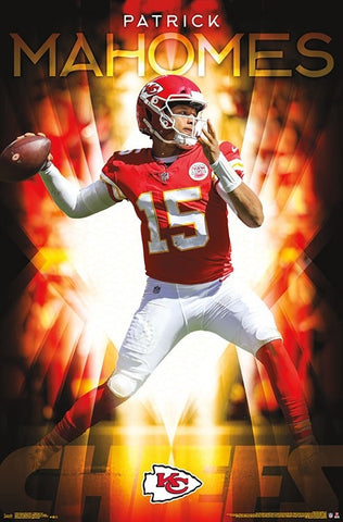 "Patrick Mahomes ""Gunslinger"" Kansas City Chiefs Official NFL Football Wall Poster - Trends International"
