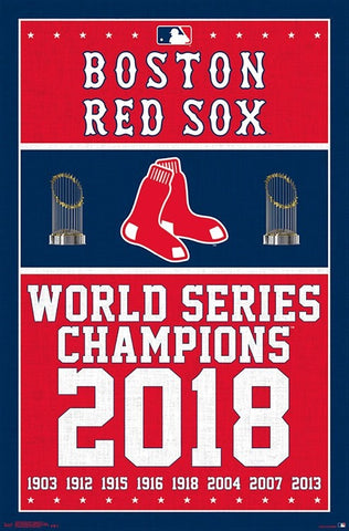 Boston Red Sox 9-Time World Series Champs Commemorative Poster - Trends Int'l.