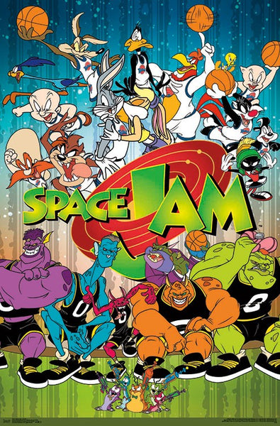 Space Jam Basketball (Looney Tunes Tune Squad vs. Monstars) Official Wall Poster - Trends International