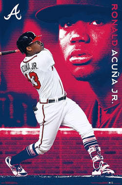 "Ronald Acuna ""Blast"" Atlanta Braves MLB Baseball Poster - Trends International"