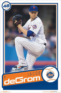 "Jacob deGrom ""Classic"" New York Mets Official MLB Baseball Poster - Trends International"