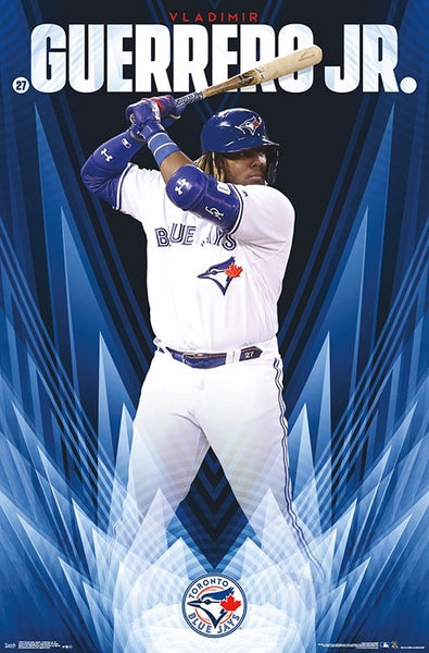 "Vladimir Guerrero Jr. ""Superstar"" Toronto Blue Jays MLB Baseball Action Poster - Trends 2019"