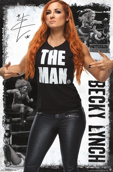 "Becky Lynch ""Attitude"" WWE Wrestling Entertainment Poster - Trends International"