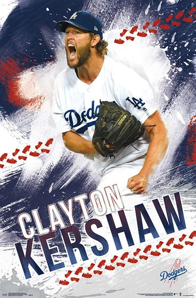 "Clayton Kershaw ""Passion"" LA Dodgers MLB Action Wall Poster - Trends International Inc."