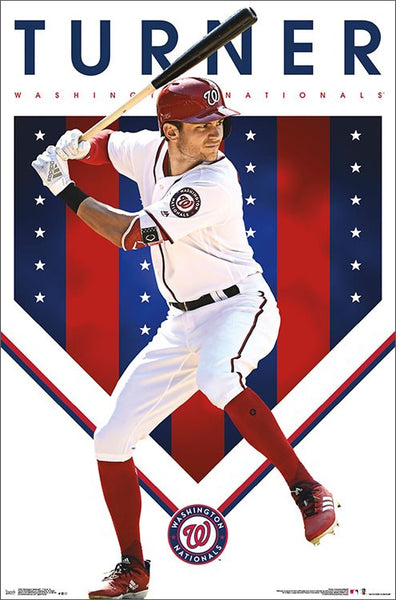 "Trea Turner ""Superstar"" Washington Nationals MLB Baseball Action Poster - Trends International"