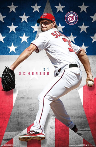 "Max Scherzer ""National Star"" Washington Nationals MLB Baseball Action Poster - Trends Int'l."