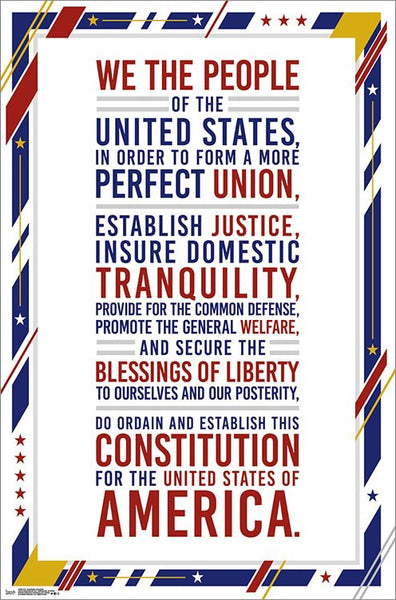 "Preamble to The United States of America Constitution ""We the People"" Poster - Trends International"