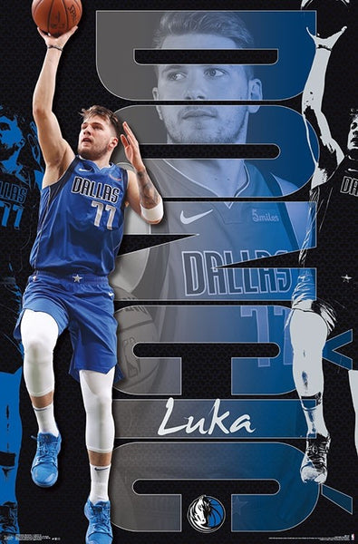 "Luka Doncic ""Superstar"" Dallas Mavericks NBA Basketball Action Poster - Trends International 2019"
