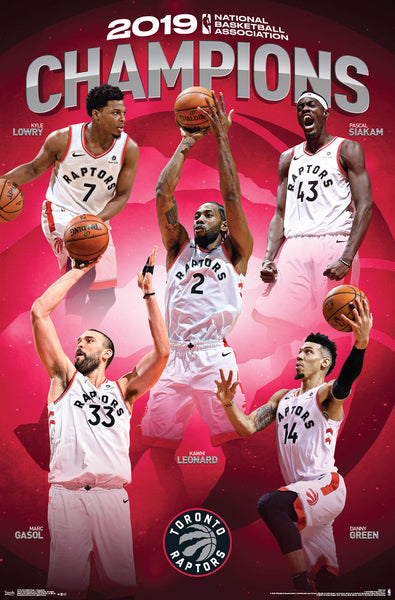 *SHIPS 6/21* Toronto Raptors 2019 NBA Champions Official Commemorative Poster - Trends International
