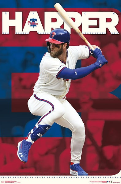 "*SHIPS 6/10* Bryce Harper ""Philly Blast"" Philadelphia Phillies MLB Baseball Action Poster - Trends Int'l."