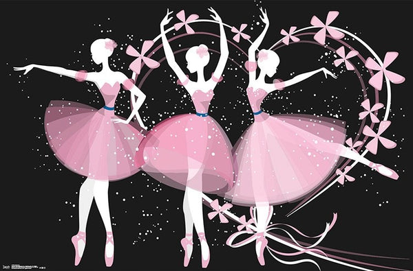Dancing Ballerinas Ballet Poster Print - Trends International
