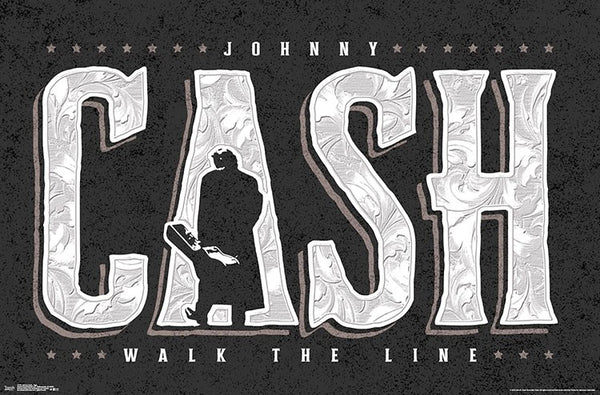 "Johnny Cash ""Walk the Line"" Classic Music Poster - Trends International"