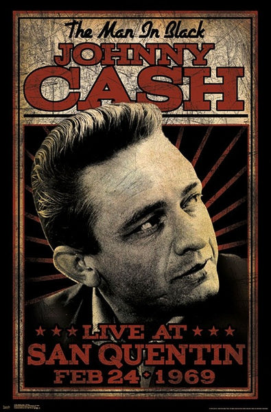 "Johnny Cash ""San Quentin 1969"" Classic Music Poster - Trends International"