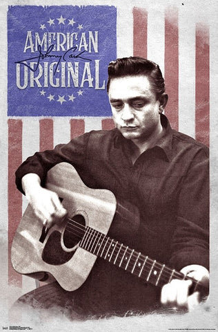 "Johnny Cash ""American Original"" Classic Music Poster - Trends International"