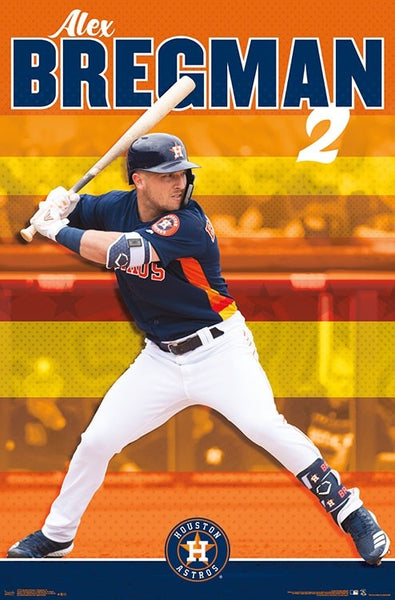 "Alex Bregman ""Superstar"" Houston Astros MLB Baseball Poster - Trends International"