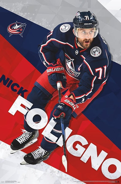 "Nick Foligno ""Superstar"" Columbus Blue Jackets Official NHL Hockey Action Poster - Trends International"
