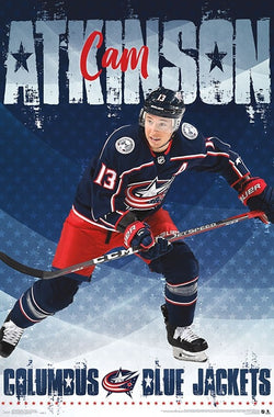 "Cam Atkinson ""Superstar"" Columbus Blue Jackets Official NHL Hockey Action Poster - Trends International"
