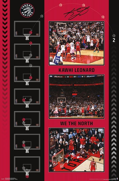"*SHIPS 6/21* Kawhi Leonard ""The Bounce"" (Game-7-Winning Shot) Toronto Raptors NBA Basketball Commemorative Poster - Trends 2019"