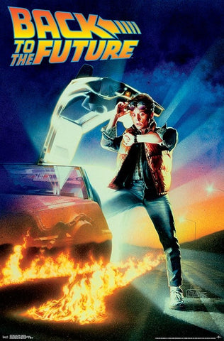 Back to the Future (1985) Official Movie Poster One-Sheet Key Art Poster - Trends International