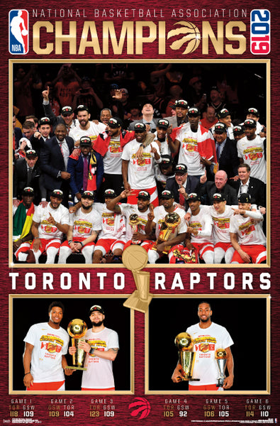 Toronto Raptors 2019 NBA Champions CELEBRATION Official Commemorative Poster - Trends International