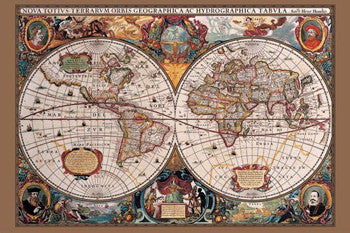 Antique Map Of The World (c.1630) - Pyramid International (UK)