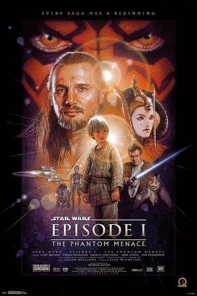 Star Wars Episode I - The Phantom Menace (1999) Official One-Sheet Movie Poster Reprint (24x36) - Trends International