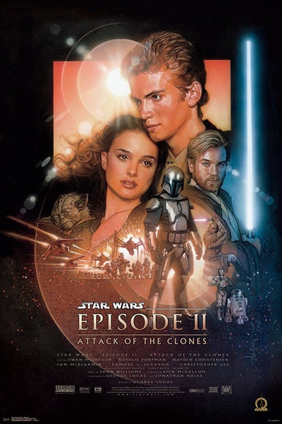 Star Wars Episode II - Attack of the Clones (2002) Official One-Sheet Movie Poster Reprint (24x36) - Trends International