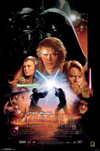 Star Wars Episode III - Revenge of the Sith (2005) Official One-Sheet Movie Poster Reprint (24x36) - Trends International