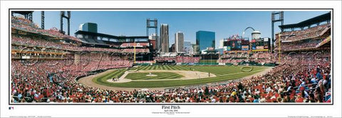 St. Louis Cardinals New Busch Stadium First Pitch (2006) Panoramic Poster Print - Everlasting Images