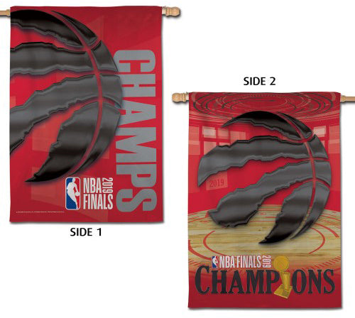 Toronto Raptors 2019 NBA Champions Commemorative Wall Banner Flag (28x40 2-Sided) - Wincraft Inc.