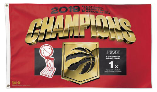 Toronto Raptors 2019 NBA Champions Official Commemorative DELUXE 3'x5' FLAG - Wincraft