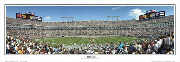 "Carolina Panthers ""47-Yard Line"" Bank of America Stadium Premium Poster Print - Everlasting Images"
