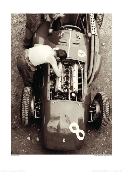 "Grand Prix Racing ""Ferrari Mechanic, French GP, 1954"" Premium Poster Print - The Art Group Ltd."