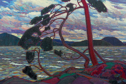 The West Wind Canadian Wilderness Art (1916) by Tom Thomson Group of Seven Poster Print - Eurographics Inc.