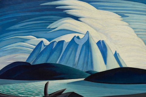 Lake and Mountains Canadian Wilderness Art (1928) by Lawren Harris Group of Seven Poster Print - Eurographics Inc.
