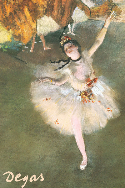 L'Etoile (The Star) Dancing Ballerina Girl by Edgar Degas (1878) Poster Print - Eurographics Inc.