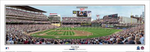 Minnesota Twins Target Field First Pitch 2010 Premium Panoramic Poster Print - Everlasting (MN-272)
