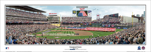 Minnesota Twins Target Field Inaugural Game 2010 Panoramic Poster Print - Everlasting Images