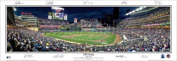 "Minnesota Twins Target Field ""Fifth Inning"" Panoramic Poster w/9 Signatures - Everlasting 2010"