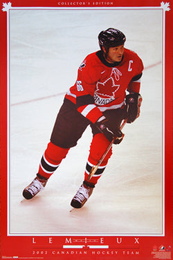 "Mario Lemieux ""Canadian Heritage"" Team Canada Hockey Poster - T.I.L. 2002"