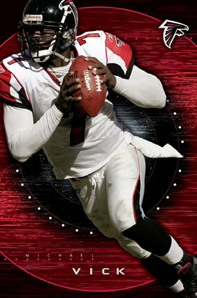 "Michael Vick ""Takeoff"" Atlanta Falcons QB Action Poster - Costacos 2005"