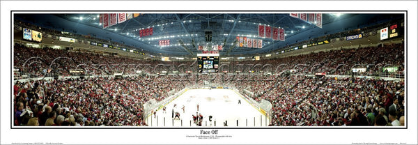 "Detroit Red Wings ""Face Off"" Joe Louis Arena Panoramic Poster Print - Everlasting Images 1997"