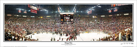 Detroit Red Wings 1997 Stanley Cup Panoramic Poster Print - Everlasting Images
