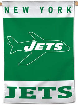 New York Jets Retro-1963-Style Official AFL-NFL Football Wall BANNER Flag - Wincraft Inc.