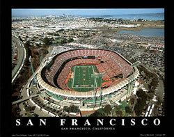 San Francisco 49ers Gameday Aerial View Premium Poster Print - Aerial Views Inc.