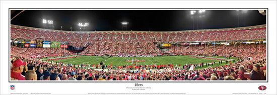 San Francisco 49ers Game Night (2012) Panoramic Poster Print - Everlasting Images